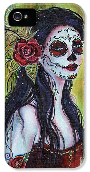 Lila Day Of The Dead Art IPhone 5 Case