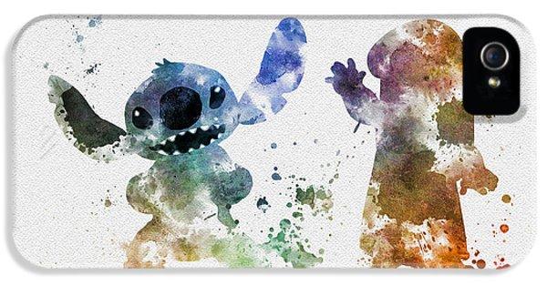 Lilo And Stitch IPhone 5 Case by Rebecca Jenkins