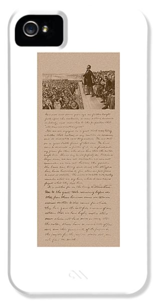 Gettysburg iPhone 5 Case - Lincoln And The Gettysburg Address by War Is Hell Store