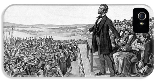 Gettysburg iPhone 5 Case - Lincoln Delivering The Gettysburg Address by War Is Hell Store