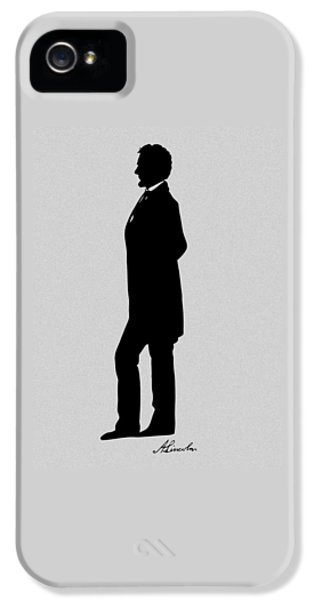 Lincoln Silhouette And Signature IPhone 5 Case by War Is Hell Store