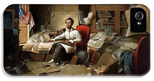 Lincoln Writing The Emancipation Proclamation IPhone 5 / 5s Case by War Is Hell Store