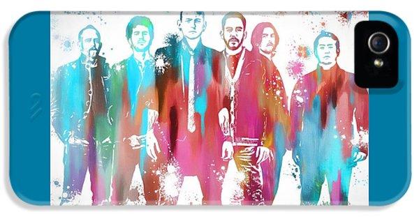 Linkin Park Watercolor Paint Splatter IPhone 5 Case by Dan Sproul