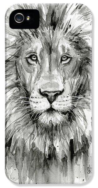 Lion Watercolor  IPhone 5 Case by Olga Shvartsur
