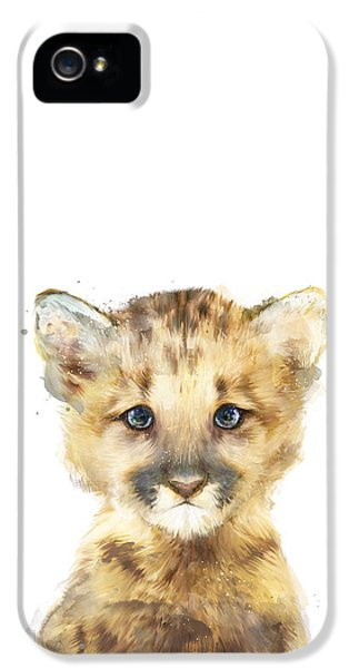 Mountain iPhone 5 Case - Little Mountain Lion by Amy Hamilton