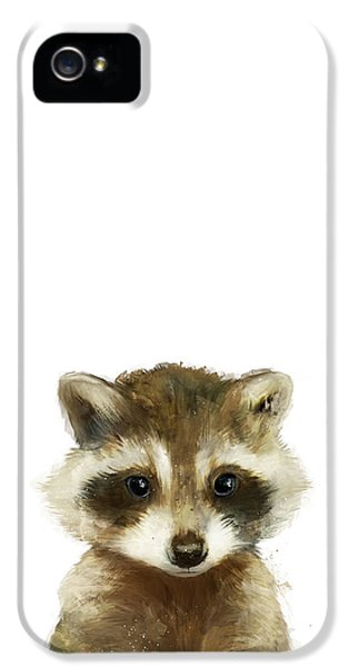 Raccoon iPhone 5 Case - Little Raccoon by Amy Hamilton
