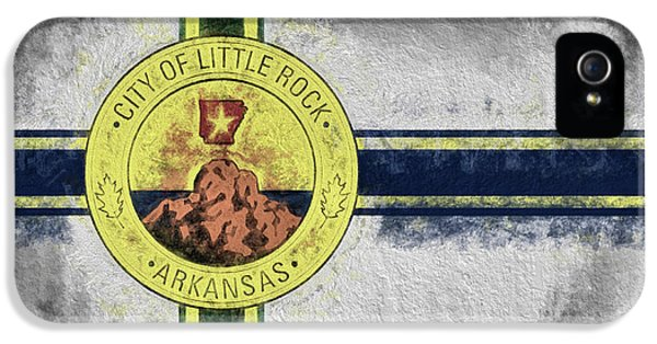IPhone 5 Case featuring the digital art Little Rock City Flag by JC Findley