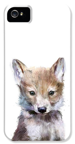Wolves iPhone 5 Case - Little Wolf by Amy Hamilton