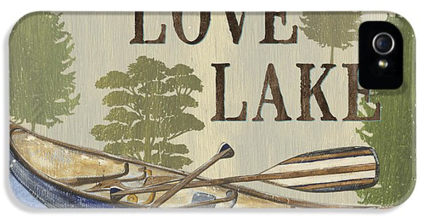 Live, Love Lake IPhone 5 Case by Debbie DeWitt