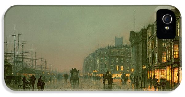 Liverpool Docks From Wapping IPhone 5 Case by John Atkinson Grimshaw