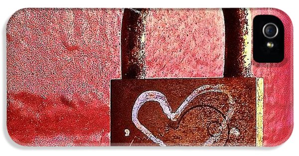 Lock/heart IPhone 5 Case by Julie Gebhardt