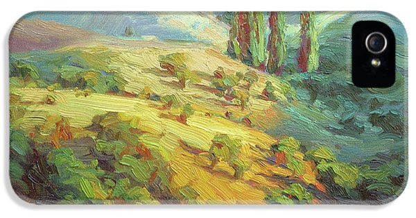 Impressionism iPhone 5 Case - Lombardy Homestead by Steve Henderson