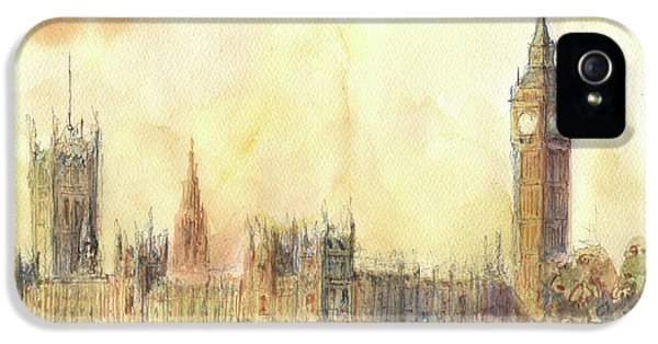London Big Ben And Thames River IPhone 5 Case