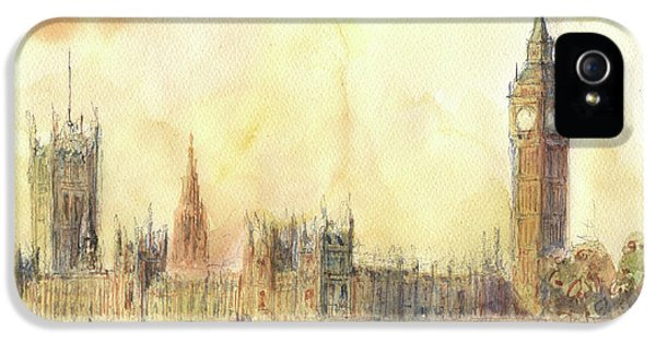 London Big Ben And Thames River IPhone 5 Case by Juan Bosco