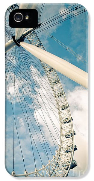 London Eye Ferris Wheel IPhone 5 Case by Andy Smy
