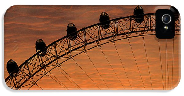 London Eye Sunset IPhone 5 Case by Martin Newman