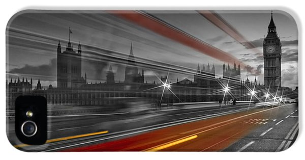 London Red Bus IPhone 5 Case by Melanie Viola