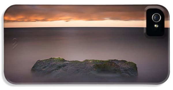 IPhone 5 Case featuring the photograph Lone Stone At Sunrise by Adam Romanowicz