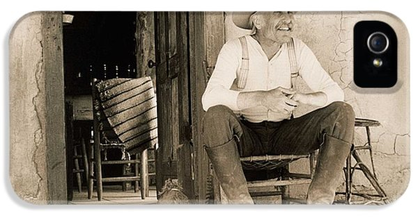 Legends iPhone 5 Case - Lonesome Dove Gus On Porch  by Peter Nowell