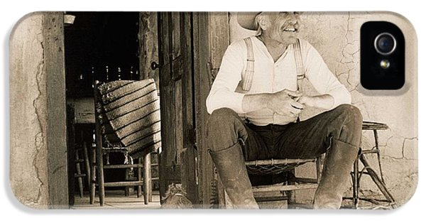Lonesome Dove Gus On Porch Signed Print IPhone 5 Case