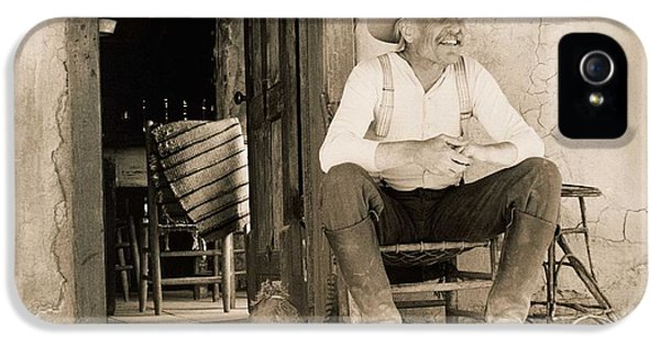 Lonesome Dove Gus On Porch Signed Print IPhone 5 Case by Peter Nowell