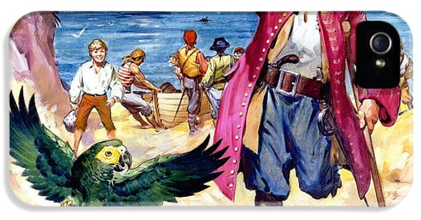 Long John Silver And His Parrot IPhone 5 / 5s Case by James McConnell