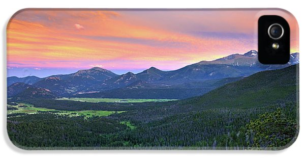 IPhone 5 Case featuring the photograph Longs Peak Sunset by David Chandler