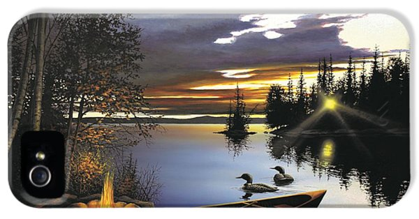 Loon iPhone 5 Case - Loon Lake by Anthony J Padgett