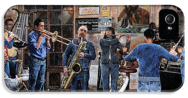 Trumpet iPhone 5 Case - L'orchestra by Guido Borelli