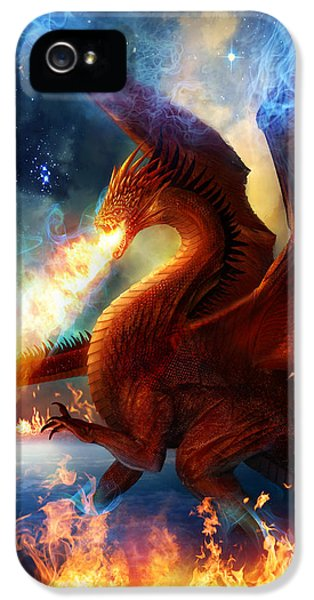 Dragon iPhone 5 Case - Lord Of The Celestial Dragons by Philip Straub