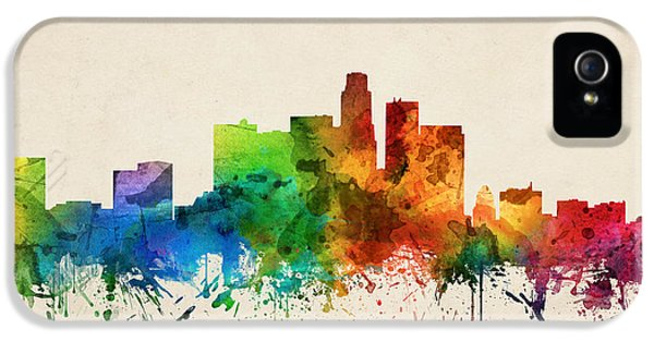 Los Angeles California Skyline 05 IPhone 5 Case by Aged Pixel