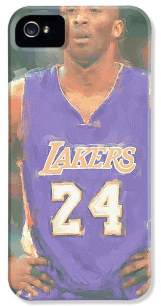 Los Angeles Lakers Kobe Bryant 2 IPhone 5 Case by Joe Hamilton