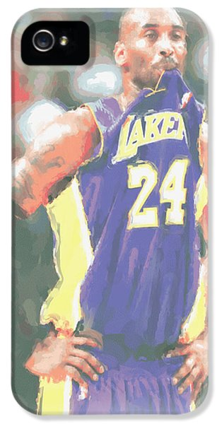 Los Angeles Lakers Kobe Bryant 3 IPhone 5 Case by Joe Hamilton