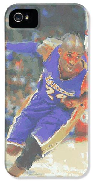 Los Angeles Lakers Kobe Bryant IPhone 5 Case by Joe Hamilton