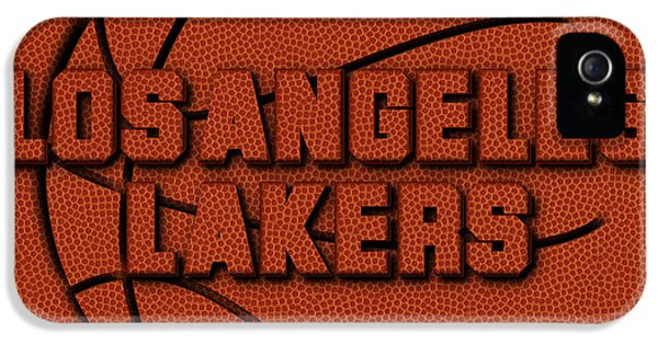 Los Angeles Lakers Leather Art IPhone 5 Case by Joe Hamilton