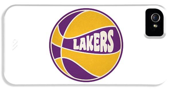Los Angeles Lakers Retro Shirt IPhone 5 Case by Joe Hamilton