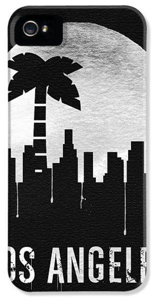Moon iPhone 5 Case - Los Angeles Landmark Black by Naxart Studio