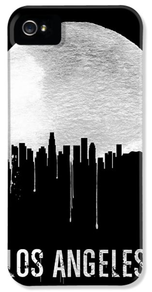 Los Angeles Skyline Black IPhone 5 Case by Naxart Studio