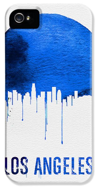 Los Angeles Skyline Blue IPhone 5 Case by Naxart Studio