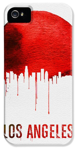 Los Angeles Skyline Red IPhone 5 Case by Naxart Studio
