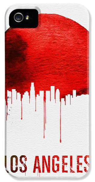 Los Angeles Skyline Red IPhone 5 / 5s Case by Naxart Studio