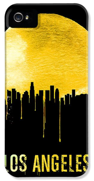 Los Angeles Skyline Yellow IPhone 5 Case by Naxart Studio