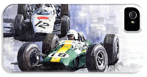 Lotus Vs Honda Mexican Gp 1965 IPhone 5 Case