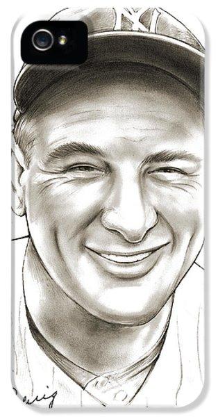 Lou Gehrig IPhone 5 Case by Greg Joens
