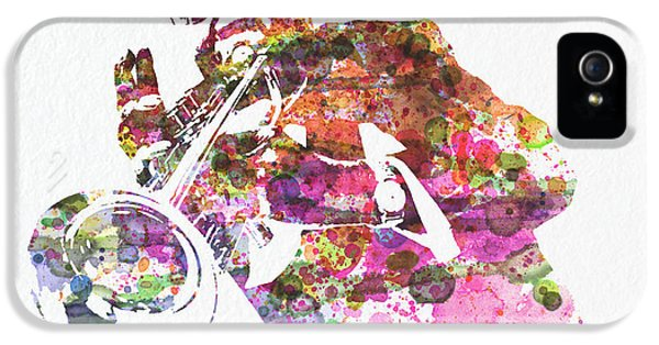 Saxophone iPhone 5 Case - Louis Armstrong 2 by Naxart Studio