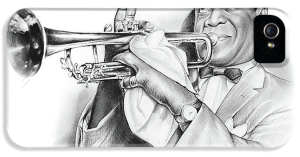 Louis Armstrong IPhone 5 Case by Greg Joens