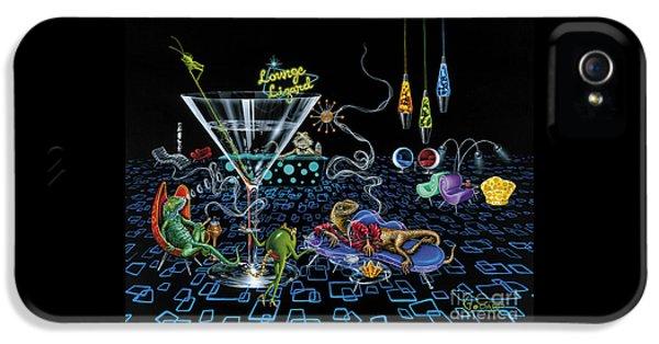 Lounge Lizard IPhone 5 Case by Michael Godard