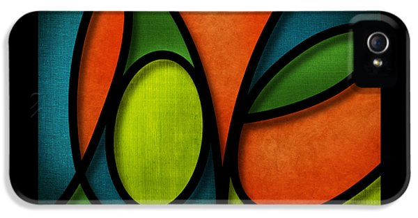 Love - Abstract IPhone 5 Case by Shevon Johnson