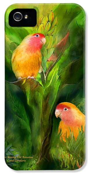 Love Among The Bananas IPhone 5 Case by Carol Cavalaris