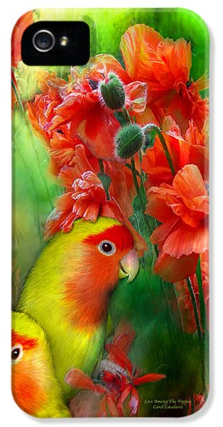 Love Among The Poppies IPhone 5 Case by Carol Cavalaris